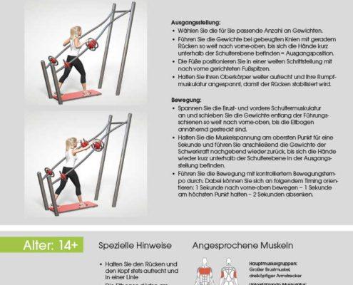 Brust-Schulterpresse Trainingsanleitung