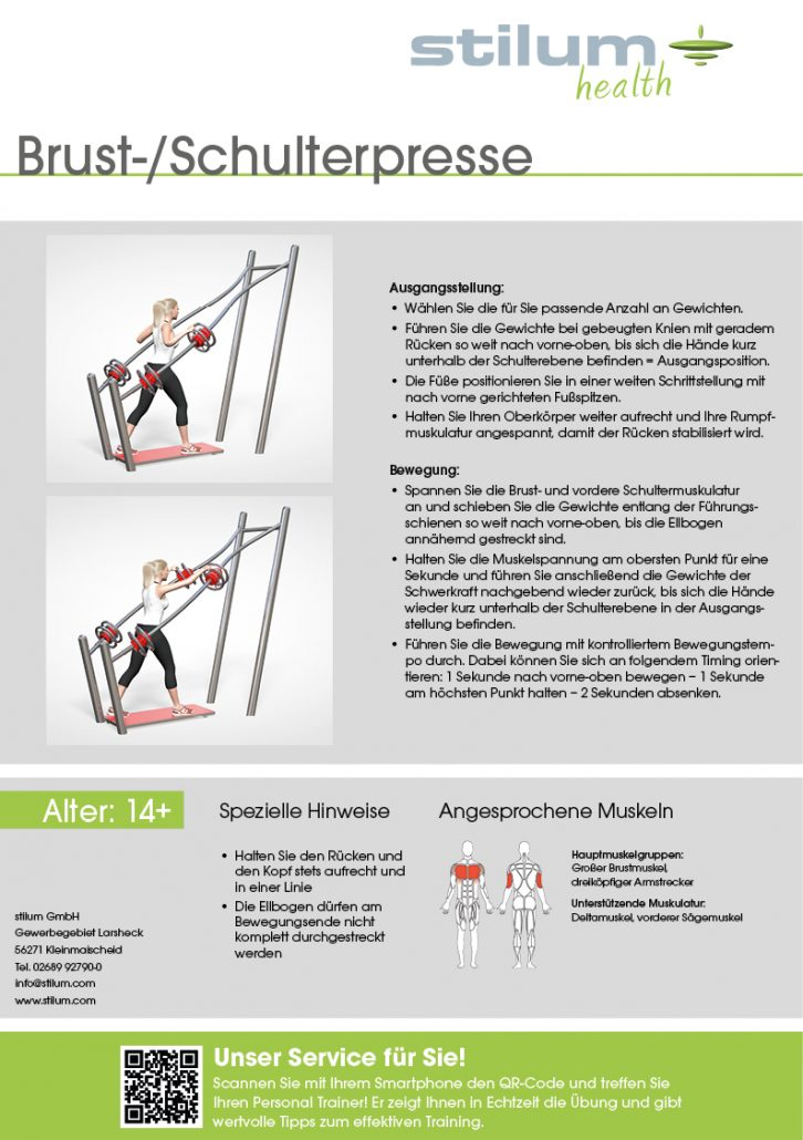 Brust- Schulterpresse | Stilum Outdoor Fitness