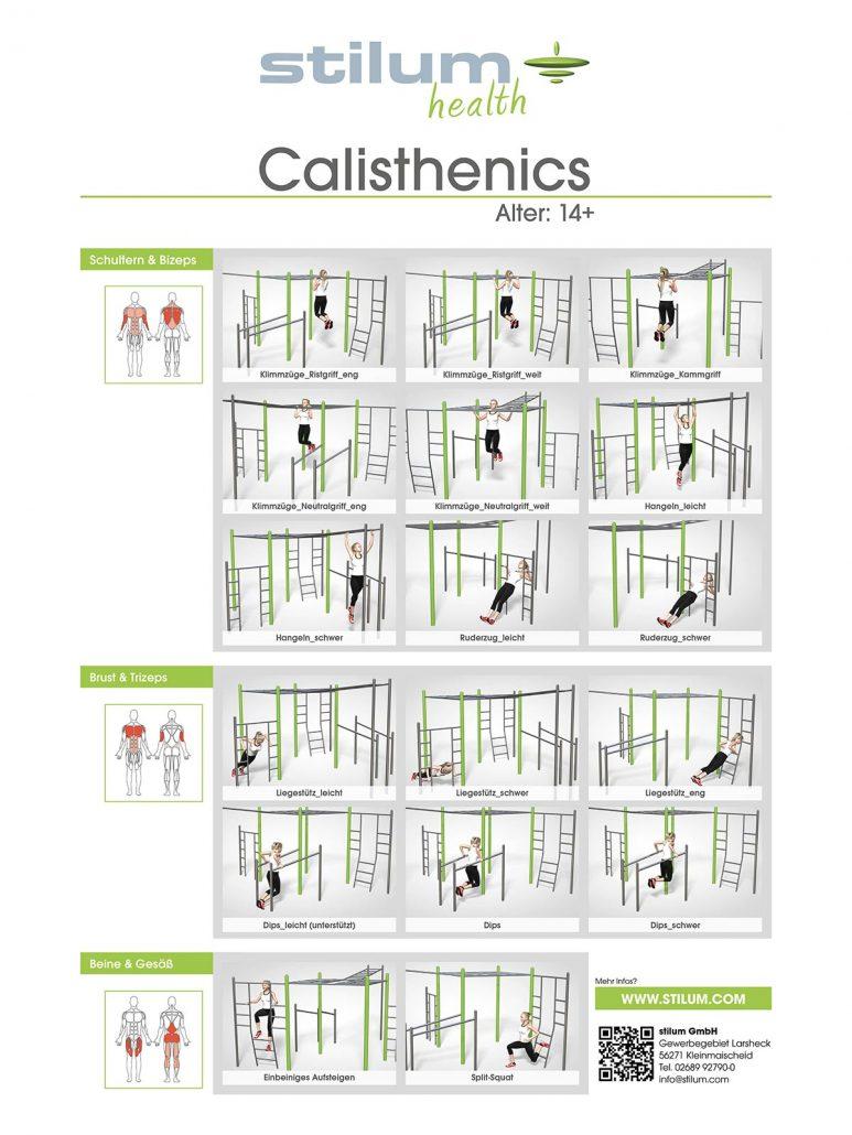Calisthenics Stilum Outdoor Fitnessger 228 Te