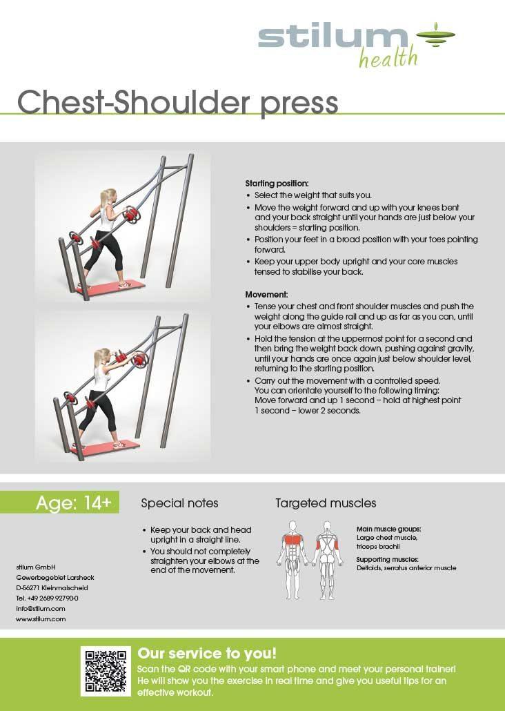 Chest Shoulder Press Stilum Outdoor Fitness