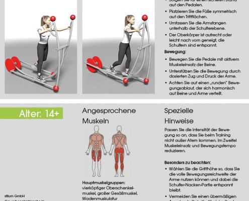 Crosstrainer Trainingsanleitung
