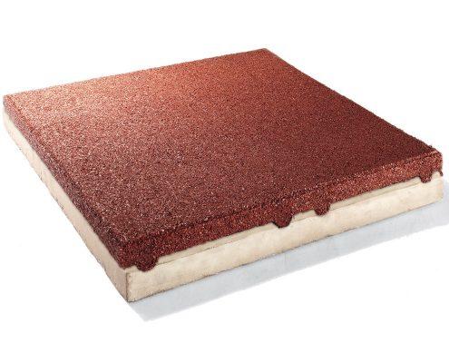 Gummi-Betonplatte