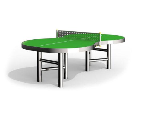 Tischtennisplatte aus Edelstahl für draussen