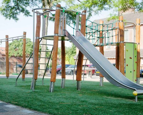 Playground equipment made of robinia and stainless steel 2