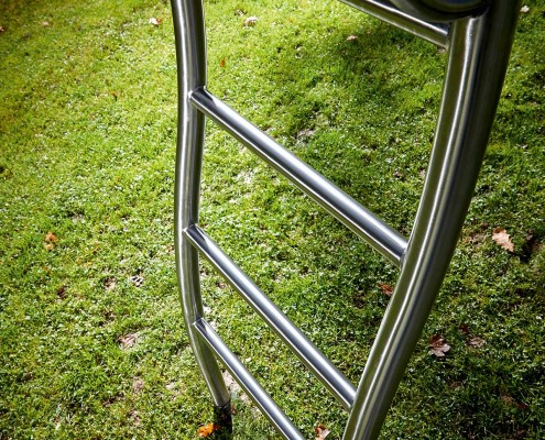Slide bricus ladder made of stainless steel