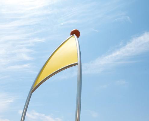 "Surfboard ""velis1"" unter freiem Himmel"