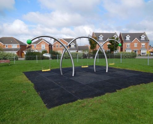 Swing on a playground with safety system by stilum