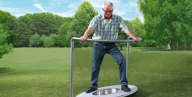 Outdoor-Geräte für das Balancetraining