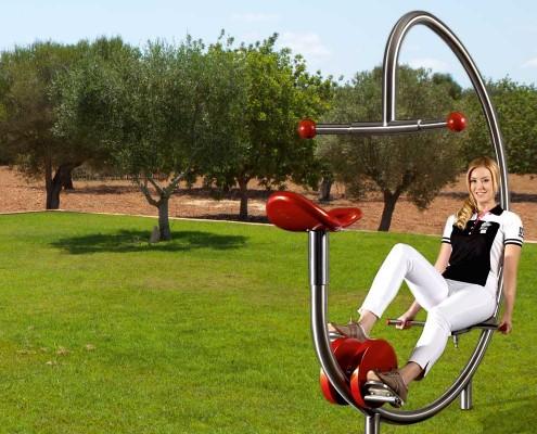 Fitnessfahrrad im Outdoor-Bereich