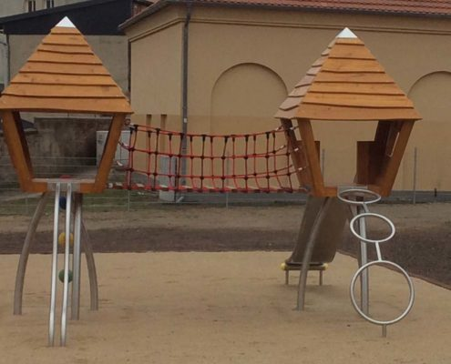 large play equipment in Parchim
