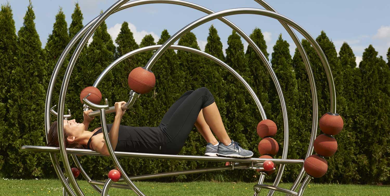 Outdoor-Geräte für den Muskelaufbau