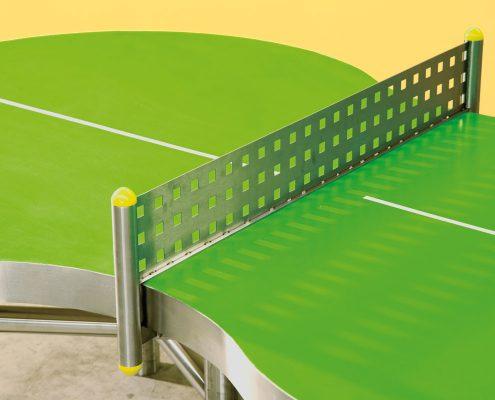 Tischtennisplatte ludo mit Edelstahl-Netz